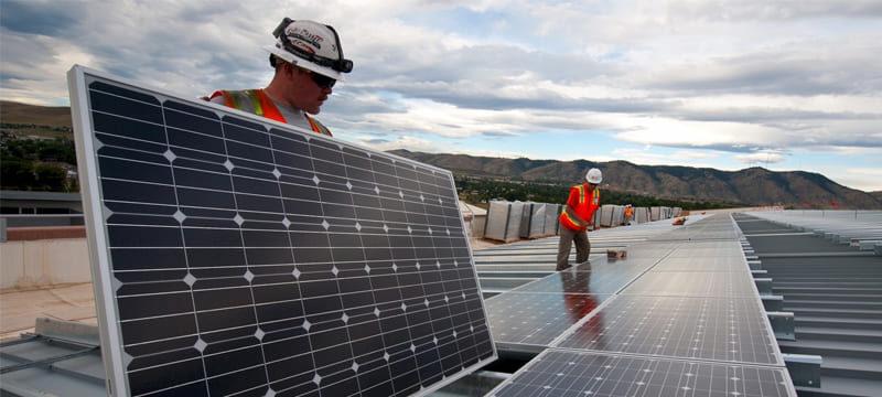 Obras planejadas com energia solar